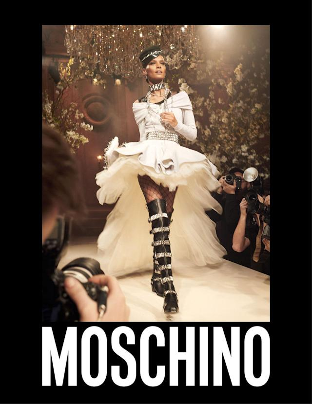 <p><strong>Model: </strong>Liya Kebede<br><strong>Photographer: </strong>Steven Meisel<br>(Photo: Courtesy of Moschino) </p>