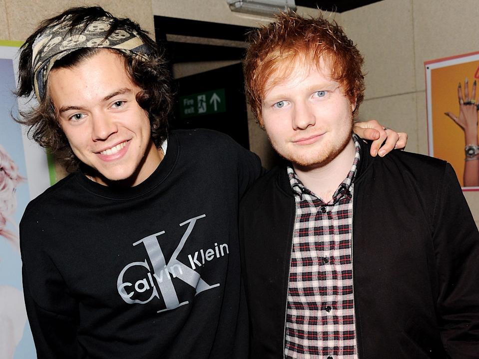Harry Styles and Ed Sheeran have a matching tattoo.