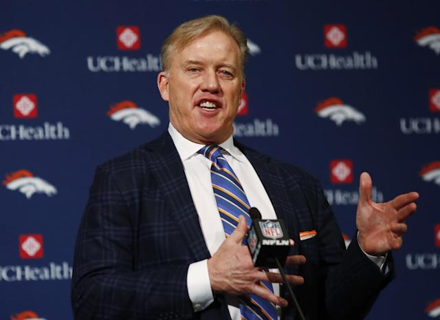 John Elway wrote a letter to support Donald Trump's Supreme Court justice nominee. (AP)