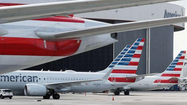 PHOTO: Grounded American Airlines Boeing 737 Max 8 are seen parked at Miami International Airport in this March 14, 2019 file photo in Miami. (Joe Raedle/Getty Images, FILE)