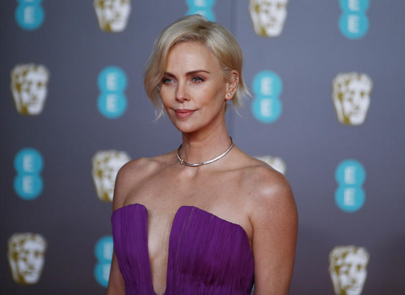 Charlize Theron arrives at the British Academy of Film and Television Awards (BAFTA) at the Royal Albert Hall in London, Britain, February 2, 2020. REUTERS/Henry Nicholls
