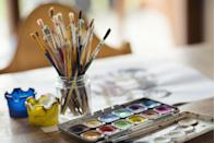 """<p>You can follow along online with your favorite Bob Ross episode, or try a specialized service that hosts online painting tutorials.</p><p><a class=""""link rapid-noclick-resp"""" href=""""https://www.paintingtogogh.com/"""" rel=""""nofollow noopener"""" target=""""_blank"""" data-ylk=""""slk:FIND VIRTUAL CLASSES"""">FIND VIRTUAL CLASSES</a></p>"""