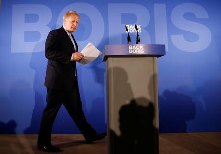 Conservative Party leadership candidate Boris Johnson at the launch of his campaign in London