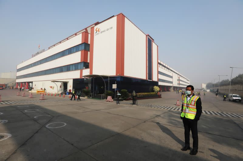 The Cargo Terminal 2 of the Indira Gandhi International Airport is seen in New Delhi
