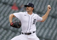 Detroit Tigers starting pitcher Tyler Alexander delivers against the Chicago White Sox during the second inning of a baseball game Tuesday, Sept. 21, 2021, in Detroit. (AP Photo/Duane Burleson)