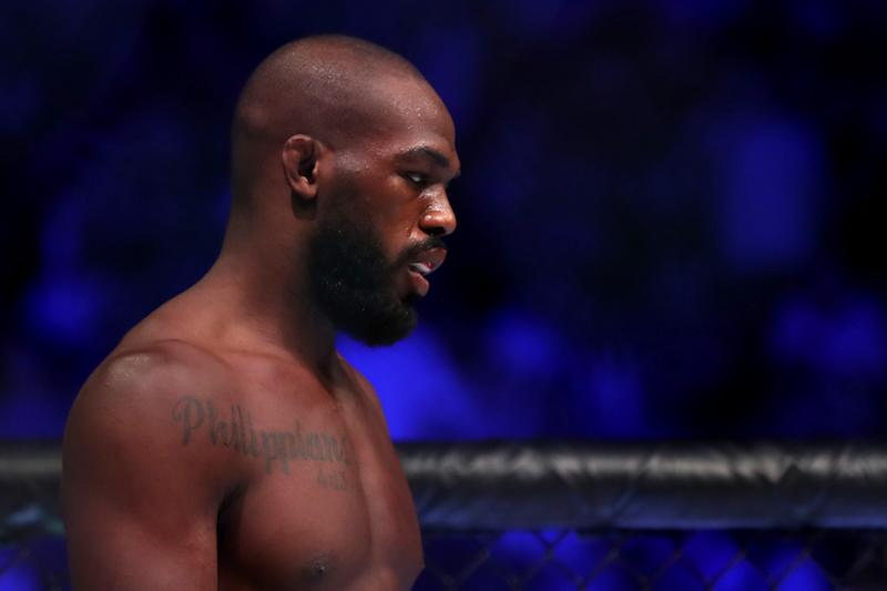 Jon Jones is in trouble with the law, which is news to him. (Photo by Sean M. Haffey/Getty Images)