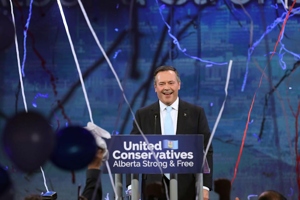 United Conservative Party (UCP) leader Jason Kenney reacts at his provincial election night headquarters in Calgary, Alberta, Canada April 16, 2019.  REUTERS/Chris Wattie
