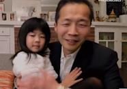 "<p>The <em>Minari</em> director had the sweetest cheering section of the night: his daughter, who hugged him and squealed, ""I prayed! I prayed!"" after her dad won the award for best motion picture — foreign language.</p>"