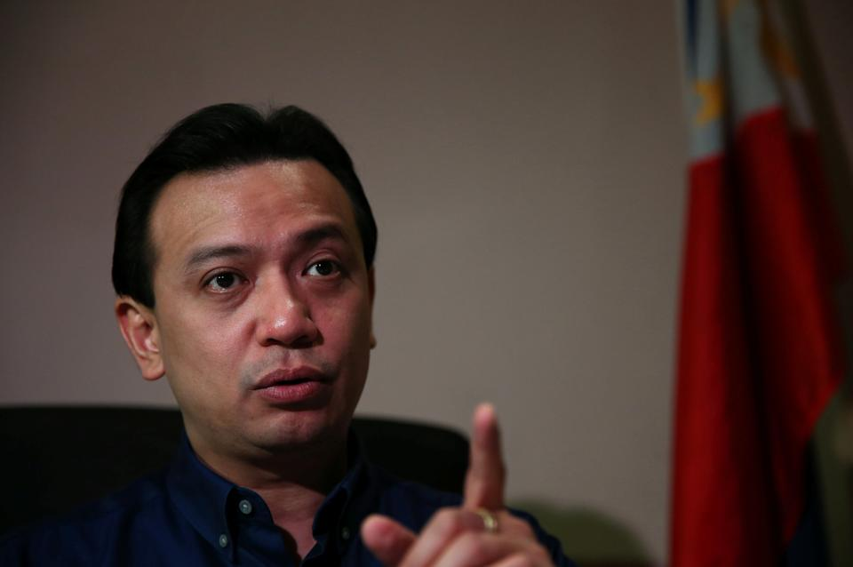 FILE PHOTO: Senator Antonio Trillanes is pictured in his office at the Senate in Pasay City, Metro Manila, in Philippines, September 7, 2018. (Source:REUTERS/Eloisa Lopez)