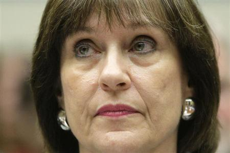 Lerner sits for testimony before a House Oversight and Government Reform Committee hearing on Capitol Hill in Washington