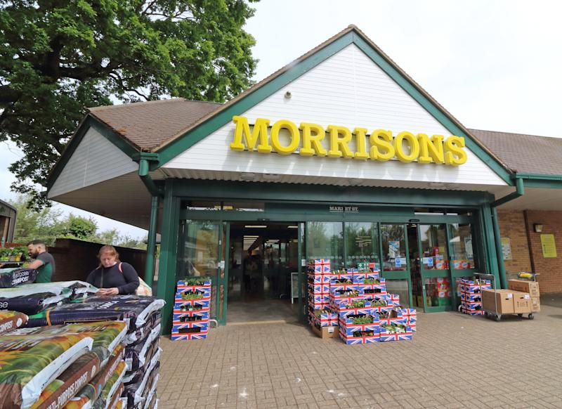 -, UNITED KINGDOM - 2019/05/19: Exterior view of a Morrisons store, One of the Top Ten Supermarket chains / brands in the United Kingdom. (Photo by Keith Mayhew/SOPA Images/LightRocket via Getty Images)