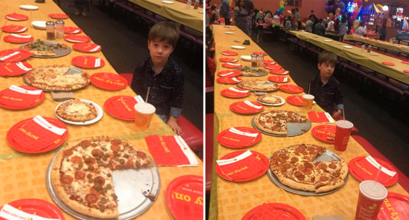 Heartbreaking story behind photo of six-year-old boy's birthday party
