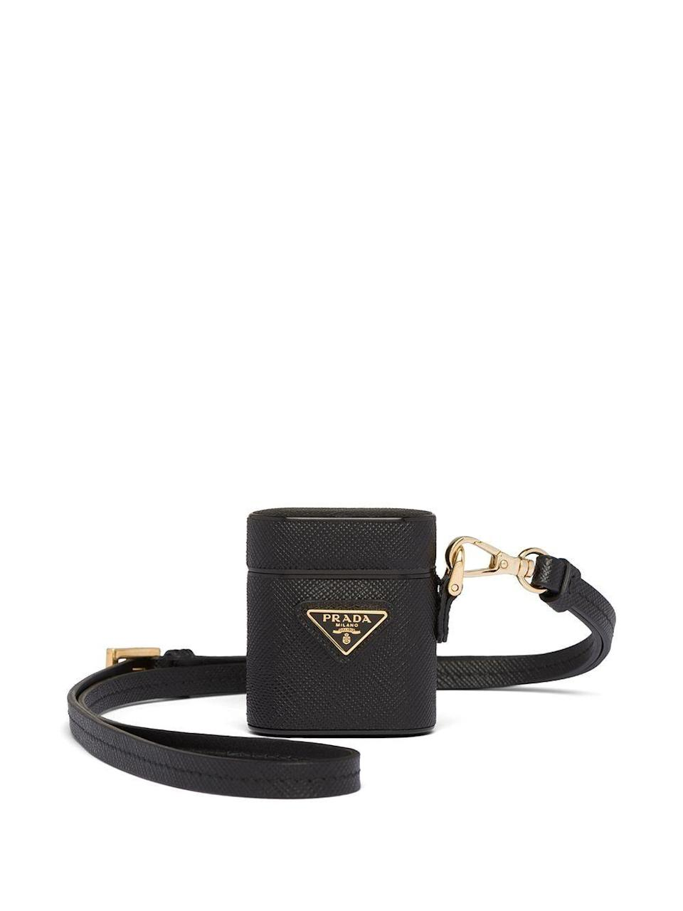 """<p><strong>Prada</strong></p><p>farfetch.com</p><p><strong>$460.00</strong></p><p><a href=""""https://go.redirectingat.com?id=74968X1596630&url=https%3A%2F%2Fwww.farfetch.com%2Fshopping%2Fwomen%2Fprada-logo-plaque-airpods-case-item-15093281.aspx&sref=https%3A%2F%2Fwww.harpersbazaar.com%2Ffashion%2Fg32937637%2F30th-birthday-gift-ideas%2F"""" rel=""""nofollow noopener"""" target=""""_blank"""" data-ylk=""""slk:Shop Now"""" class=""""link rapid-noclick-resp"""">Shop Now</a></p><p>Elevate her AirPods with a chic case that she can accessorize as a necklace for on-the-go activities. </p>"""