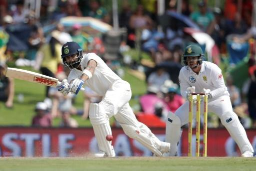 <p>India recover after losing two quick wickets in second SA Test</p>