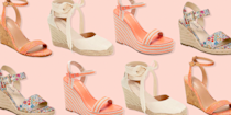 """<p>Sometimes you just don't feel like teetering around in stilettos (and toting around an extra <a href=""""https://www.oprahdaily.com/style/g32052918/best-flip-flops/"""" rel=""""nofollow noopener"""" target=""""_blank"""" data-ylk=""""slk:pair of flip-flops"""" class=""""link rapid-noclick-resp"""">pair of flip-flops</a>), but you still want the height benefit of a heel. What's a gal to do? Enter comfortable wedges. </p><p>Wedges offer more support and stability than a skinny heel, making them significantly easier to walk, or stand around in. Their sturdier bottoms also ensure you won't stumble in a sidewalk crack on the way to work, or sink into the grass, making them the <a href=""""https://www.oprahdaily.com/style/g27497458/most-comfortable-wedding-shoes/"""" rel=""""nofollow noopener"""" target=""""_blank"""" data-ylk=""""slk:favored shoe for outdoor weddings"""" class=""""link rapid-noclick-resp"""">favored shoe for outdoor weddings</a> and events. For those who have extra-long <a href=""""https://www.oprahdaily.com/style/g32465022/plus-size-maxi-dresses/"""" rel=""""nofollow noopener"""" target=""""_blank"""" data-ylk=""""slk:maxi dresses"""" class=""""link rapid-noclick-resp"""">maxi dresses</a> or <a href=""""https://www.oprahdaily.com/style/g35484690/plus-size-jumpsuits/"""" rel=""""nofollow noopener"""" target=""""_blank"""" data-ylk=""""slk:jumpsuits"""" class=""""link rapid-noclick-resp"""">jumpsuits</a> that you love but haven't gotten around to altering (or is that just us?), high wedges are a useful style hack to quite literally elevate your look.</p><p>From classic silhouettes to closed-toe espadrilles and chunky platforms, we gathered the cutest and most comfortable wedges to take your summer style up a notch. </p>"""