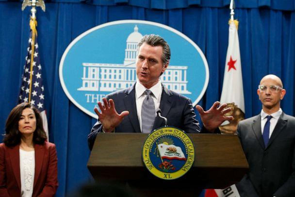 PHOTO: In this March 12, 2020 file photo, California Gov. Gavin Newsom speaks to reporters about the state's response to the coronavirus during a news conference in Sacramento, Calif. (Rich Pedroncelli/AP, File)