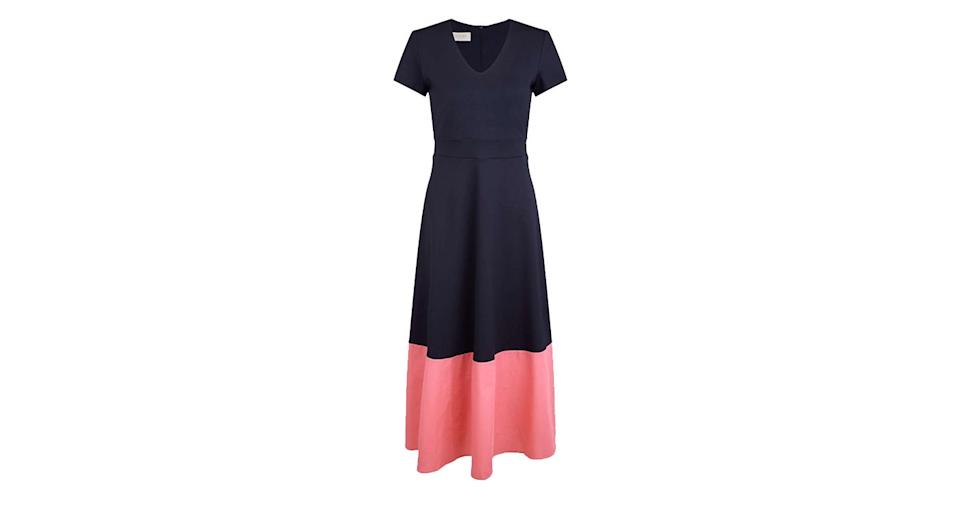 Hobbs Evangeline Colour Block A-Line Dress