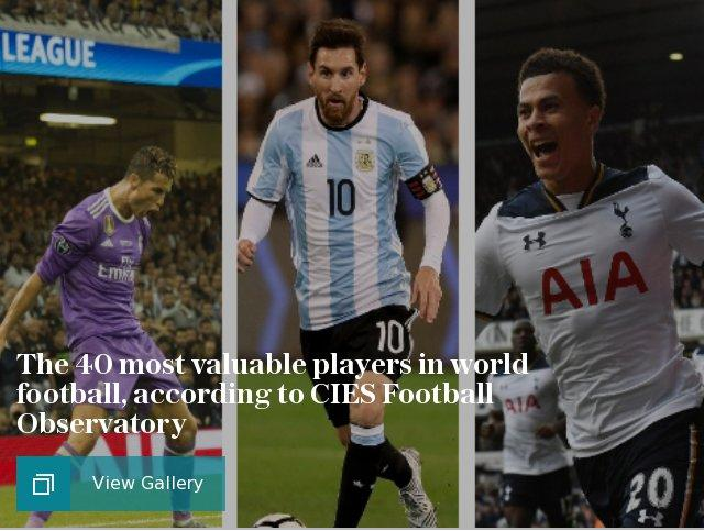 The 40 most valuable players in world football, according to CIES Football Observatory