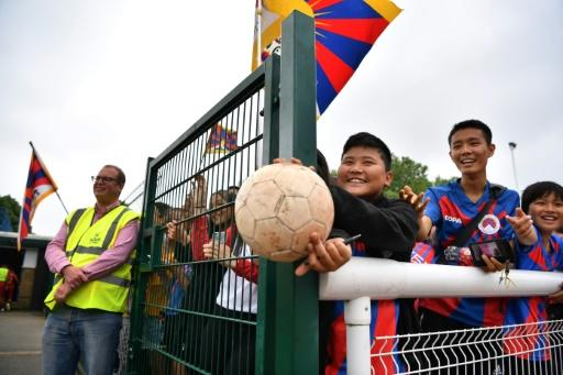 The tournament's 47 members included a team from Tibet, who blessed their opponents on the pitch
