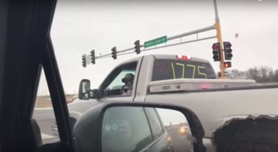 A Muslim family in Minnesota recorded a driver making alleged threatening hand gestures in their direction, but the police say he didn't commit a hate crime. (Screenshot: YouTube/CARItv)