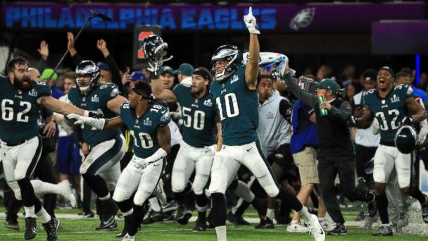 PHOTO: The Philadelphia Eagles celebrated defeating the New England Patriots 41-33 in Super Bowl LII at U.S. Bank Stadium, Feb. 4, 2018, in Minneapolis, Minnesota. (Mike Ehrmann/Getty Images, FILE)