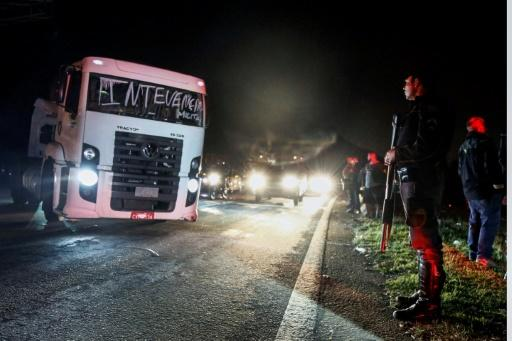 Brazil president says striking truckers could be removed