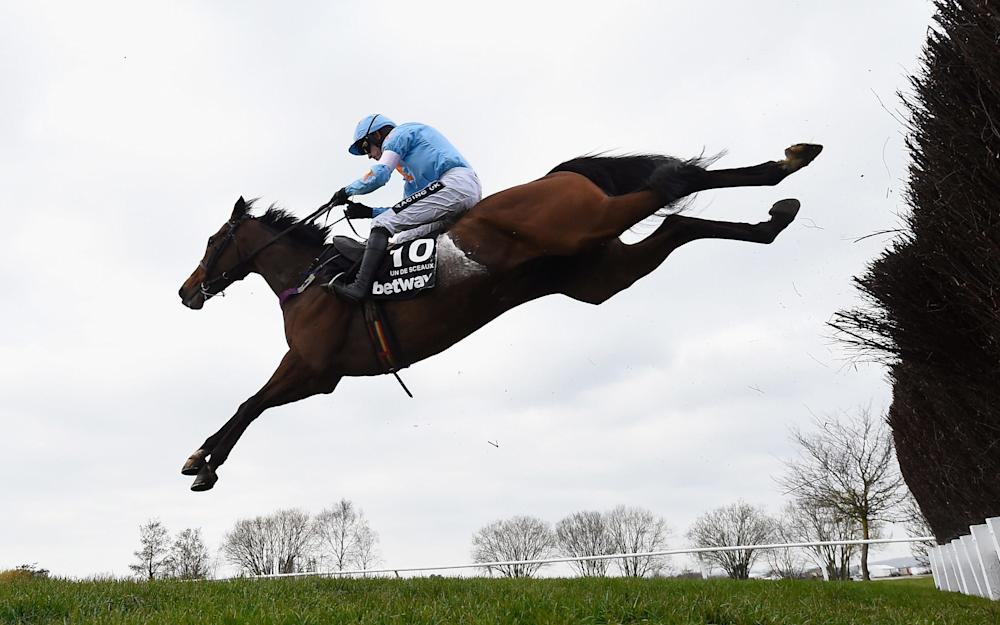 Un De Sceaux, here at Cheltenham last year, is Marlborough's top tip  - Credit:  GETTY IMAGES
