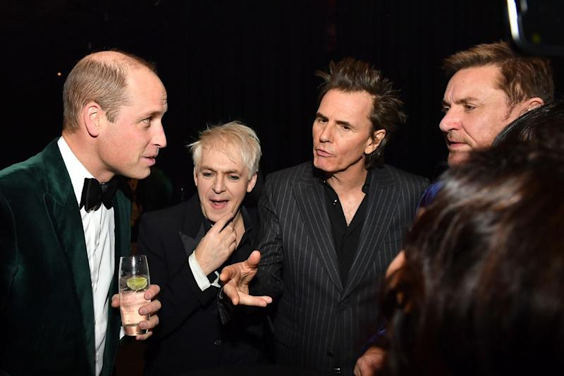 Prince William meets Nick Rhodes, John Taylor and Simon Le Bon of Duran Duran | Dominic Lipinski - Pool/Getty