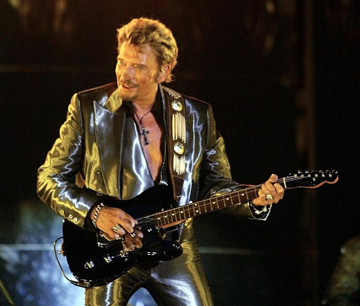 Johnny Hallyday, widely revered in France, died aged 74 on Wednesday after a battle with lung cancer