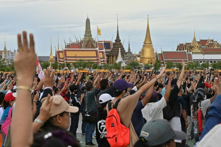 Protesters in Thailand have used the three-finger salute from the Hunger Games films at their rallies