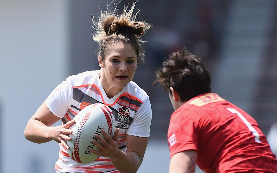 Amy Wilson Hardy playing for England Sevens team - GETTY IMAGES