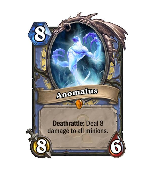 <p>Never before has a minion gotten so mad about dying. Anomalus will almost certainly be played in Freeze Mage as another tool to stall out the game forever. Oh, and do serious amounts of damage if left unchecked.</p>