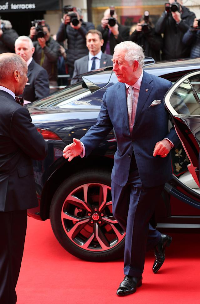 The Prince of Wales goes to shake the hand of Sir Kenneth Olisa, The Lord-Lieutenant of Greater London. (Press Association)
