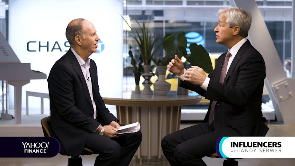 JPMorgan Chase CEO Jamie Dimon appears on Influencers with Andy Serwer.