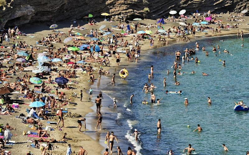 At least 150 holidaymakers at one of France's best-known naturist resorts have tested positive for Covid-19 - Bruno DE HOGUES/Gamma-Rapho