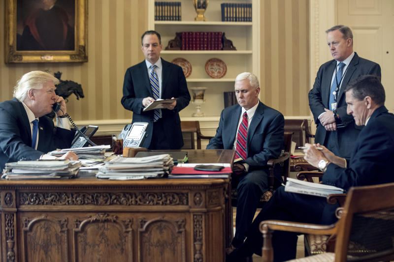 Trump White House wrestles with a crush of crises