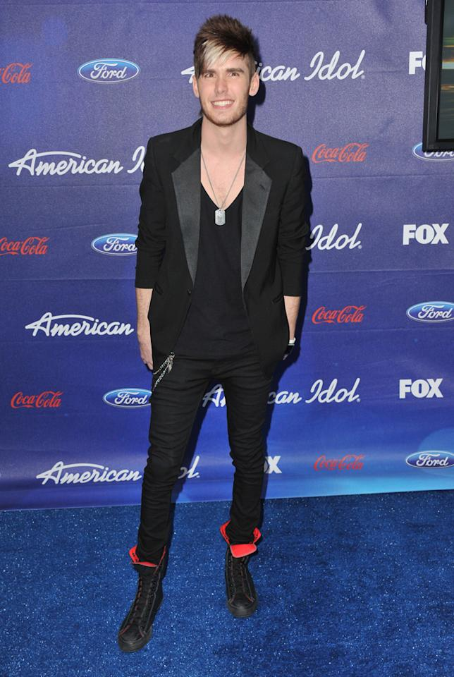 """Finalist Colton Dixon attends the Season 11 """"<a href=""""http://tv.yahoo.com/american-idol/show/34934"""">American Idol</a>"""" Top 13 Finalists Party on Thursday, March 1 at The Grove in Los Angeles, CA."""