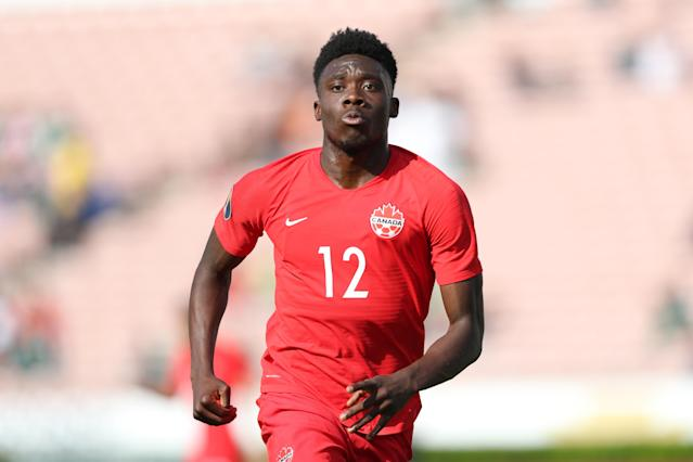 Canada's young squad is led by 18-year-old Bayern Munich attacker Alphonso Davies. (Omar Vega/Getty)