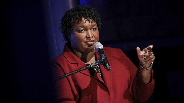 PHOTO: Former Georgia gubernatorial candidate Stacey Abrams speaks during a conversation about criminal justice reform at the New York Public Library, April 10, 2019 in New York City. (Drew Angerer/Getty Images, FILE)