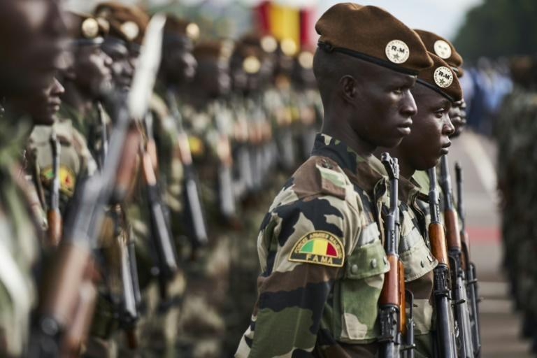 In Bamako, protest organisers said around 15,000 people marched in support of the army. This file photo from September 2018 shows Malian soldiers