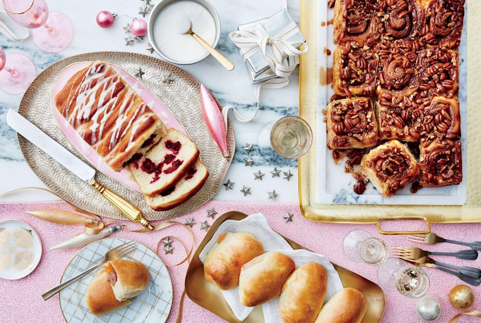 """<p><strong>Recipe: <a href=""""https://www.southernliving.com/recipes/best-ever-sticky-buns-recipe"""" rel=""""nofollow noopener"""" target=""""_blank"""" data-ylk=""""slk:Best-Ever Sticky Buns"""" class=""""link rapid-noclick-resp"""">Best-Ever Sticky Buns</a></strong></p> <p>Our Test Kitchen doesn't call a recipe the """"best ever"""" for no reason: These sweet buns are the ultimate make-ahead breakfast.</p>"""