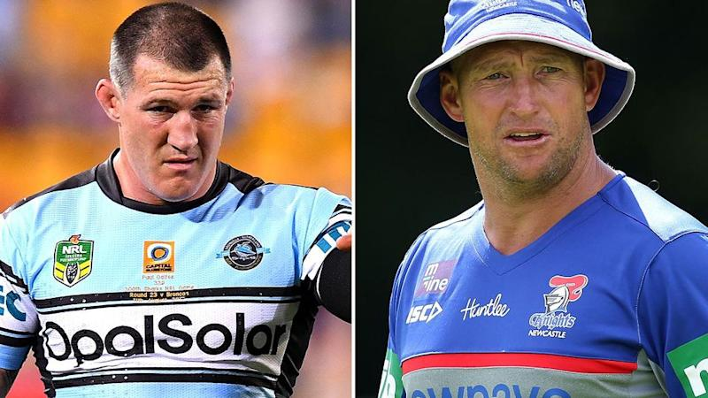 Paul Gallen v Nathan Brown. Pic: Getty