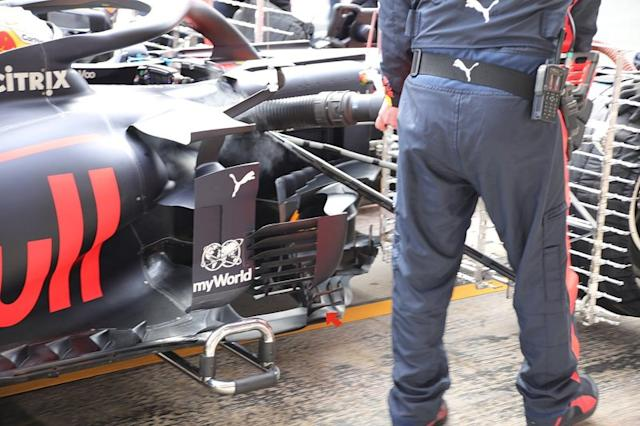 """Lateral del Red Bull Racing RB16 <span class=""""copyright"""">Giorgio Piola</span>"""