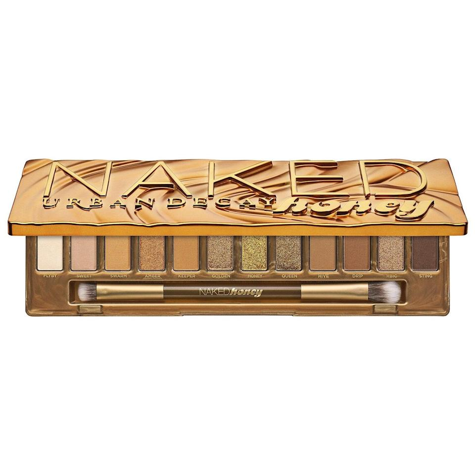 "<h2>Urban Decay Naked Honey Eyeshadow Palette</h2><br>""Of all the Urban Decay eye palettes out there, this is the only one I genuinely consider <em>nude</em>. I like that the matte shades have warm undertones and don't appear ashy on my eyelids. The shimmer shadows are extremely pigmented, and the range of golds in one palette is impressive. Amber and HBIC are my favorite colors — they look amazing on their own, and I've already hit pan on both of them."" — Rebecca O'Haeri, data analyst <br><br><strong>Urban Decay</strong> Naked Honey Palette, $, available at <a href=""https://go.skimresources.com/?id=30283X879131&url=https%3A%2F%2Fwww.sephora.com%2Fproduct%2Fnaked-honey-palette-P449097%23locklink"" rel=""nofollow noopener"" target=""_blank"" data-ylk=""slk:Sephora"" class=""link rapid-noclick-resp"">Sephora</a>"