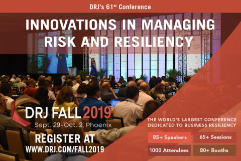 Disaster Recovery Journal launches DRJ Fall 2019, 'Innovations in Managing Risk & Resiliency'