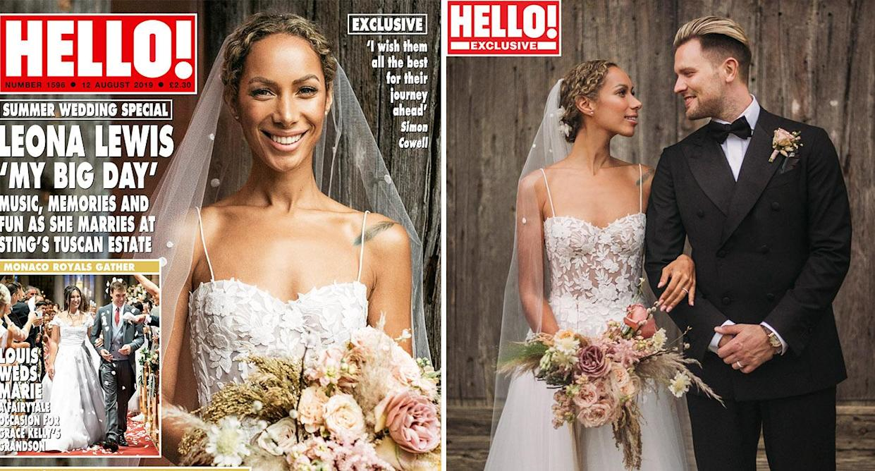 Leona Lewis wedding: First photos of semi-sheer bridal gown
