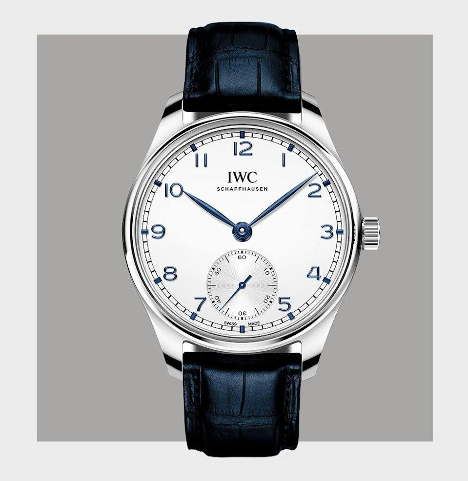 "<p>If you only collected watches that are iconic in one way or another, you'd still be here this time next year writing your wish list. Somewhere near the top of it, we'll wager, there will always be an <a href=""https://www.iwc.com/portugieser2020/en/site"" rel=""nofollow noopener"" target=""_blank"" data-ylk=""slk:IWC"" class=""link rapid-noclick-resp"">IWC</a>, and most likely it will be a Portugieser. So named, according to lore, for the Portuguese importers who asked IWC for an oversize wristwatch that would have the precision of a marine chronometer, reference 235, at 41.5mm, was a whopper at by 1939's dinky standards. It also went against the enduring Art Deco trend by using minimalist markings that were positively Bauhausian in their simplicity. Although many versions of the Portugieser have proliferated in larger sizes than the original since the 1990s, this brand-new interpretation of the original is actually a shade smaller at 40mm, and while not a nut-and-bolt replica of the original, it's about as close as you can get. </p><p><em>$7,250, <a href=""https://www.iwc.com/portugieser2020/en/site"" rel=""nofollow noopener"" target=""_blank"" data-ylk=""slk:iwc.com"" class=""link rapid-noclick-resp"">iwc.com</a></em> </p>"