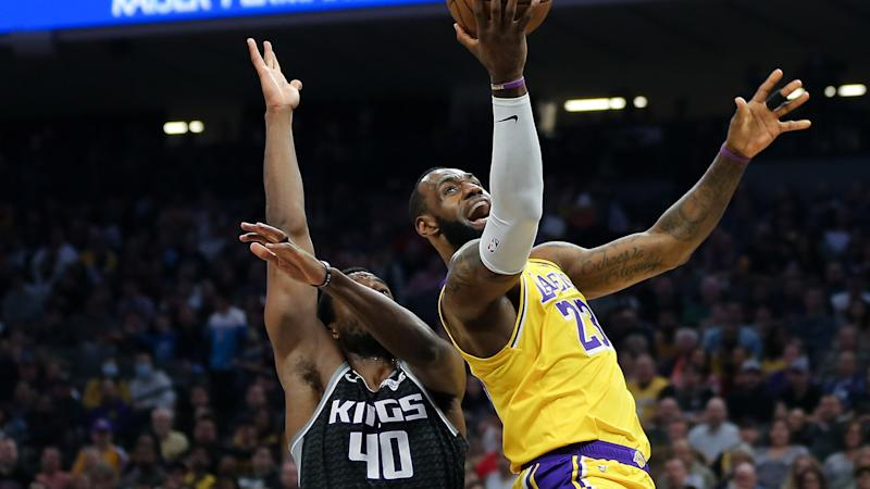 LeBron James sizes up Kings as potential Lakers NBA playoff opponent