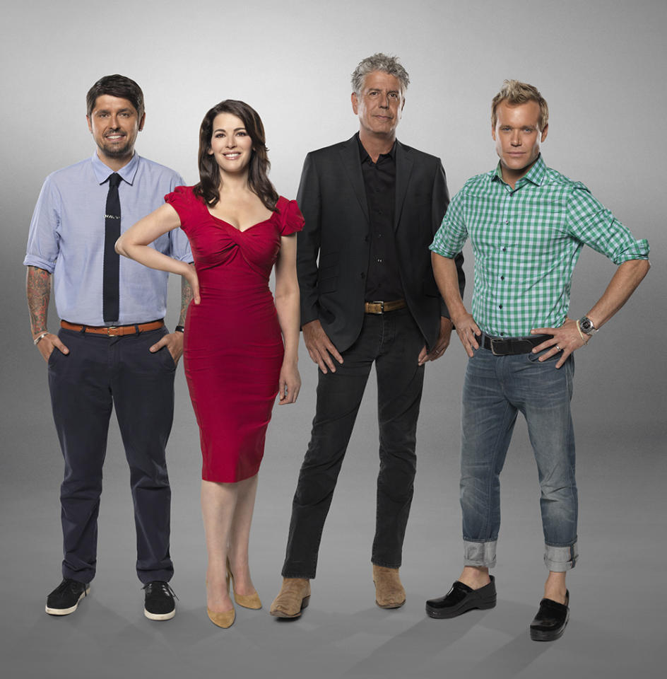 "ABC's ""The Taste"" features expert chef/author Ludo Lefebvre, British food star Nigella Lawson, no-holds barred chef Anthony Bourdain and restaurateur Brian Malarkey."