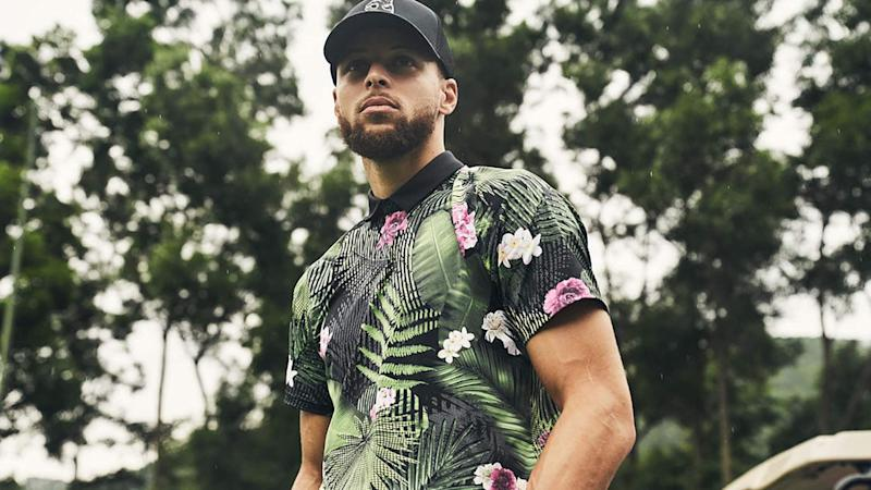 Making a splash: Curry unveils his first Under Armour golf capsule